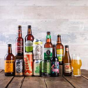 12 x Craft beers with free glass £15 delivered @ Brew Republic