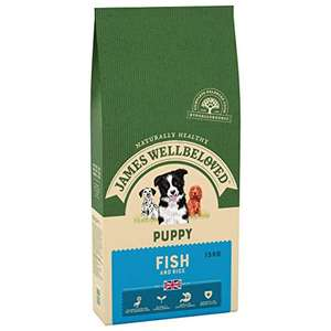 James Wellbeloved Complete Dry Puppy Food - Fish & Rice - 15KG! - £35 @ Amazon