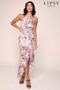 Lipsy Sale Online - Lipsy Twist Halter Ruffle Maxi Dress £15 @ NEXT