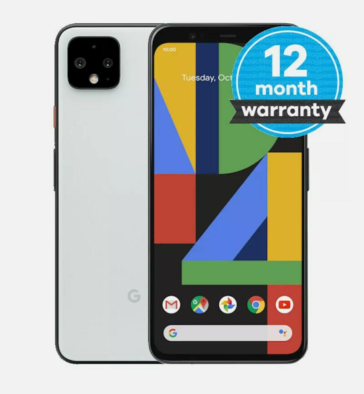 Google Pixel 4 64GB Unlocked Smartphone In Refurbished Good Condition Black / White - £281.51 @ Music Magpie / Ebay