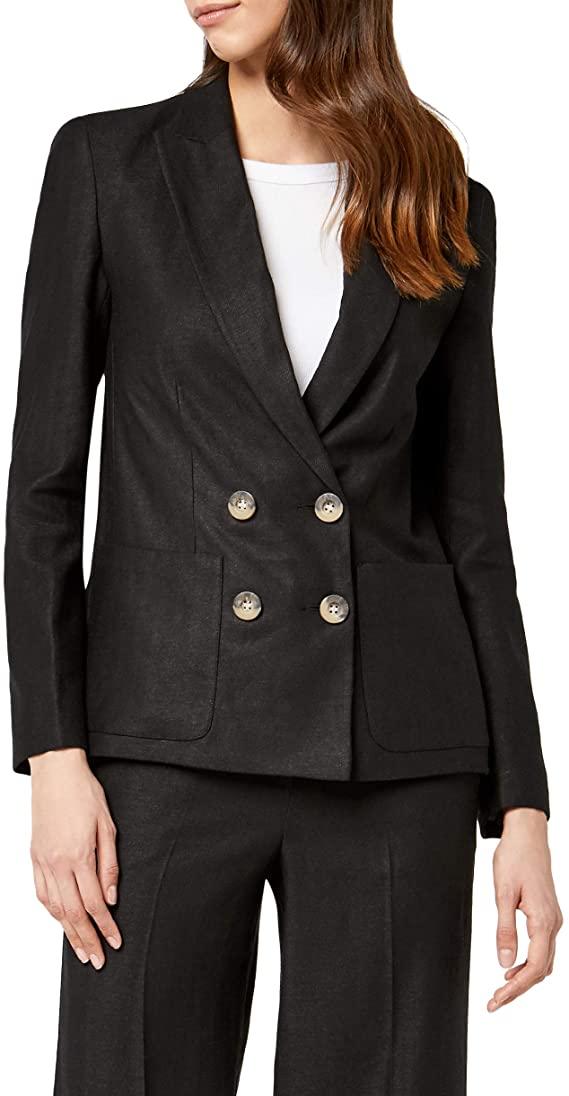 Amazon Brand - find. Womens fitted Linen Blazer (size 10) £7.89 @ Amazon (+£4.49 non-prime)