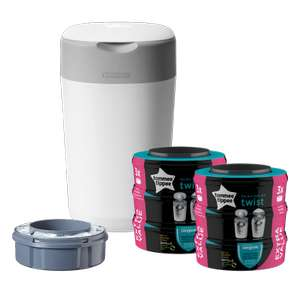 Twist & Click Starter Set White with 6 Refills Nappy bin £39.99 +£2.95 delivery @ Tommee Tippee