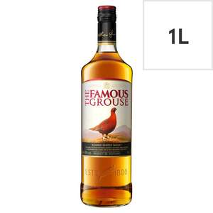 The Famous Grouse Scotch Whisky / Smirnoff Red Label Vodka 1L £16 (Clubcard price) at Tesco