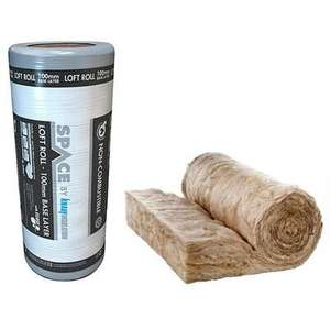 Knauf 100mm Space Bottom Layer Loft Roll Insulation - 8.3m2 - £12 Per Roll Using Click & Collect / +£7.95 Mainland UK Delivery @ Wickes