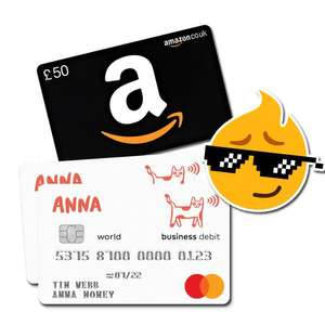 £50 Amazon eGift voucher when you open ANNA Money business current account + 6 months free banking with code via PepperBonus