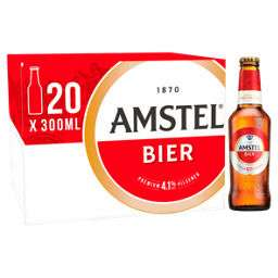 40 x 300ml Amstel Lager Beer Bottles for £20 (2 x 20 packs) @ Asda