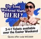 Buy 1 Get 1 Free - Easter Weekend Comedy Tickets - Jongleurs