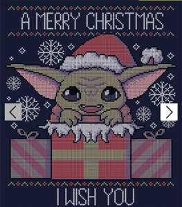 Qwertee Ugly Christmas Sweaters are back £12 with code Baby Yoda added plus delivery is £4.95 @ Qwertee