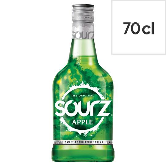 Sourz Apple Spirit Drink 70Cl - £7 with Clubcard @ Tesco