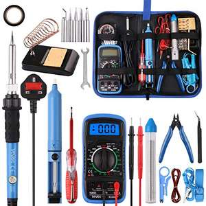 Soldering Iron Kit,WOWGO 60W Adjustable Temperature £14.96 Prime / £19.45 non-Prime Sold by WOWGODirect-UK and Fulfilled by Amazon