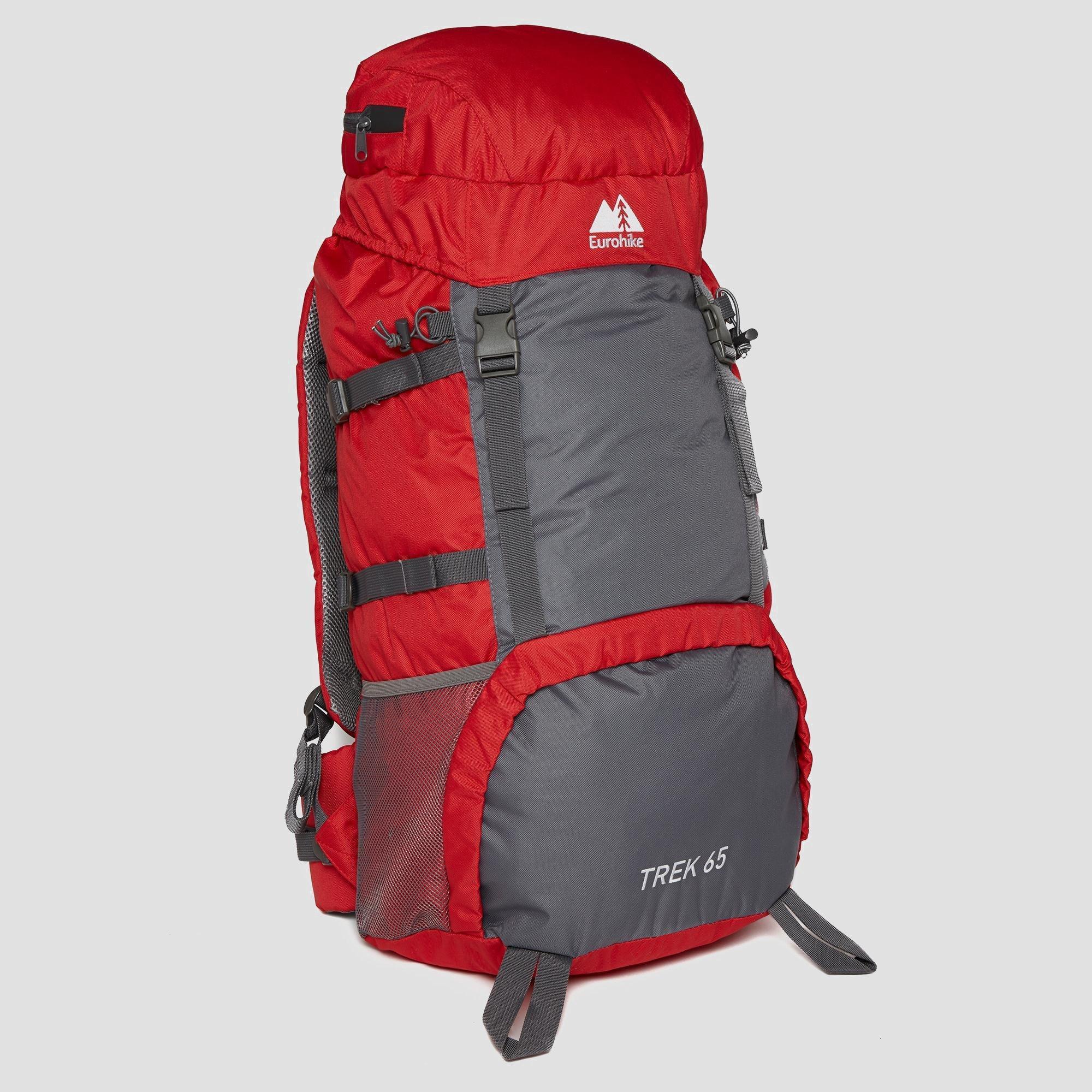 Trek 65L Back pack at Eurohike (Blacks) £21.59 Delivered (with code)