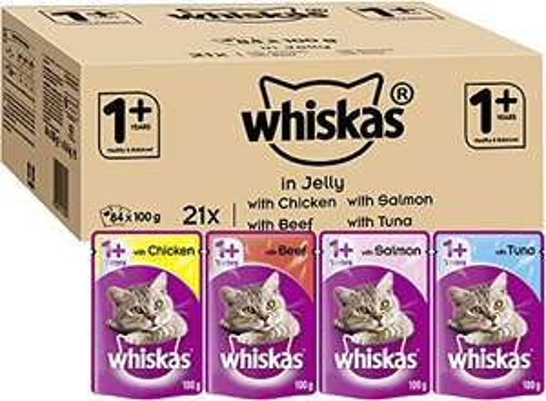 Whiskas Wet 84 x 100g - £20.93 / £14.65 S&S @ Amazon