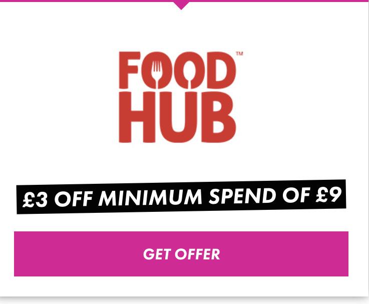 £3 off a minimum spend of £9 @ Foodhub via TOTUM