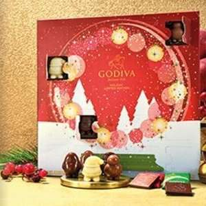 1+1 Free Christmas Advent Calendar And Free Delivery & Gift On All Orders Over £30 at Godiva
