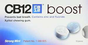 CB12 Boost Sugar Free Chewing Gum Eucalyptus White or Strong Mint 10 Pieces/20g, 59p Each Or 2 For £1 @ OneBelow (Argyle Street, Glasgow)