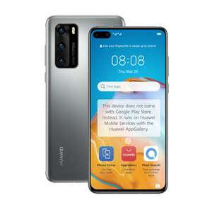 Huawei P40 5G - UK Model - Dual SIM / Silver / 128GB + 8GB RAM Smartphone - £414 Delivered @ Clove Technology