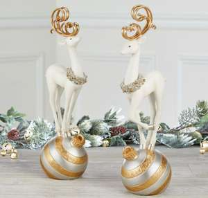 20 Inch (51 cm) Table Top Christmas Standing Deer Ornament Set Of 2 £34.99 @ Costco