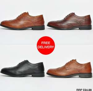 Mens Red Tape Finest Leather Brogues Now £14.15 with code Free delivery @ Express Trainers