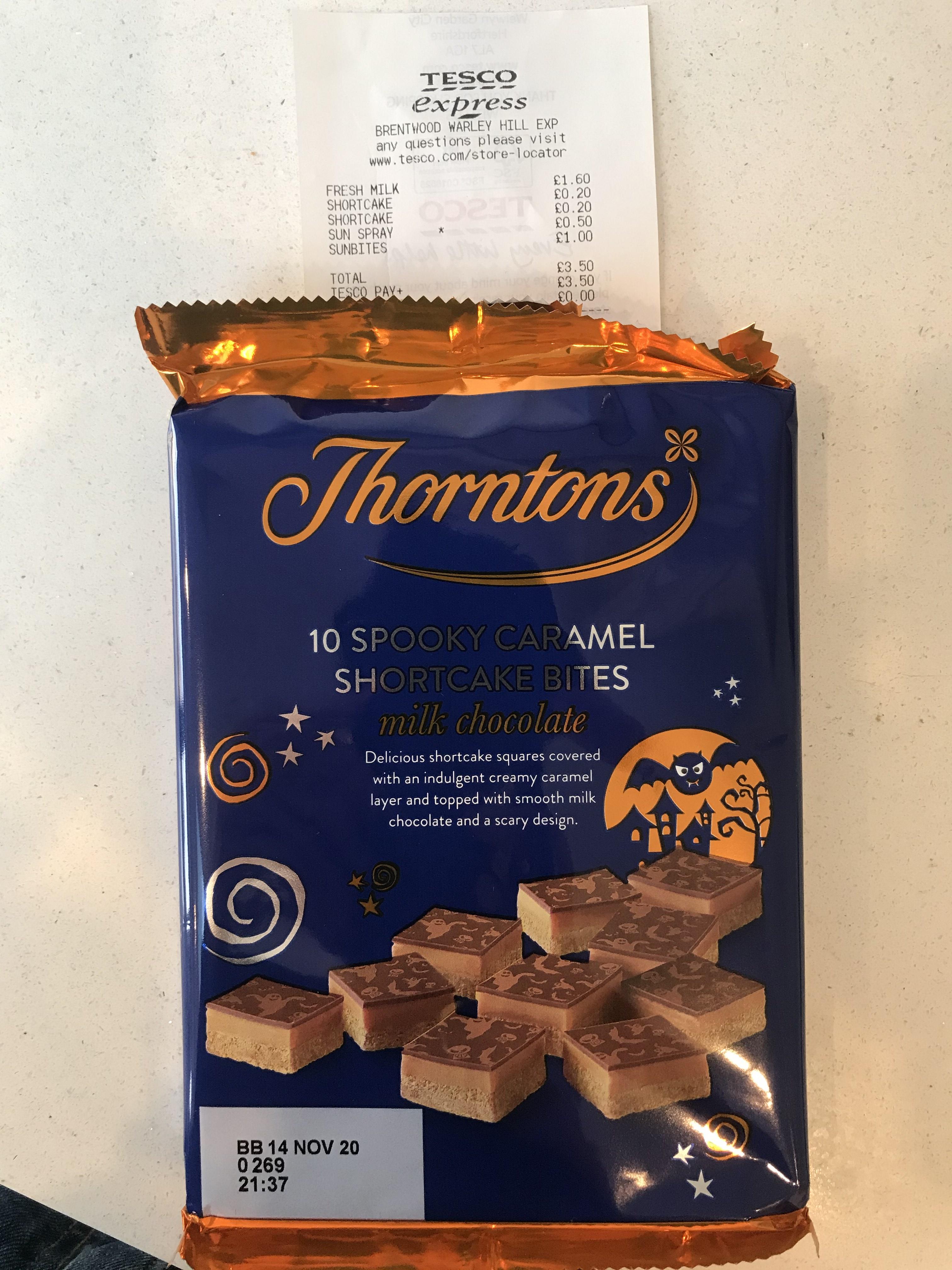 Thorntons halloween chocolate shortbread 20p @ Tesco (Brentwood)