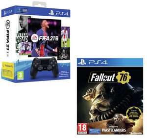 Sony PS4 Dualshock 4 Controller + FIFA 21 PS4 Game + Fallout 76 Wastelanders £69.99 (Free Collection) @ Argos