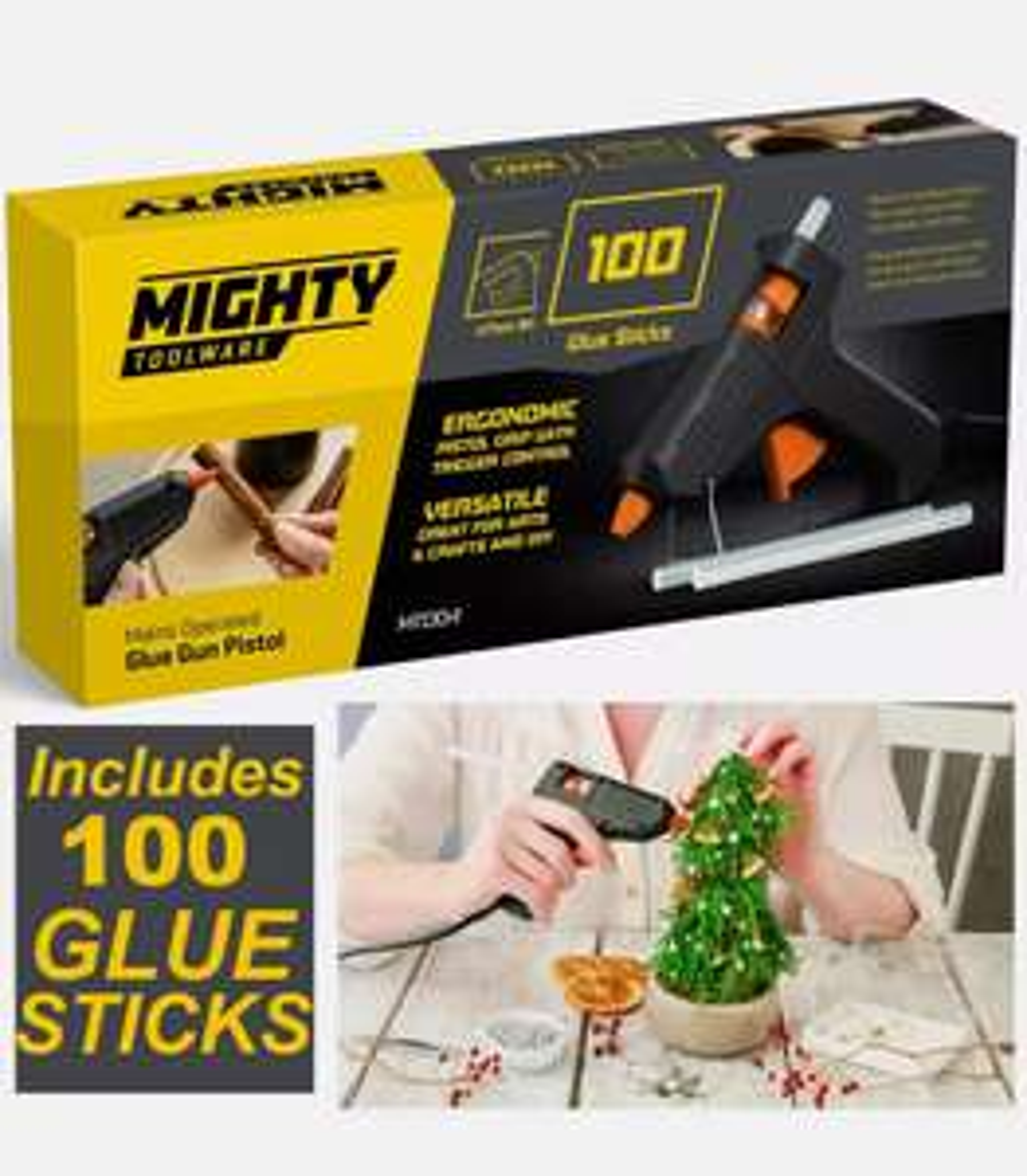 Glue Gun with 100 Glue Sticks - £7.99 @ Thinkprice / Ebay
