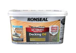 Ronseal Perfect finish Natural Decking Wood oil 2.5L - £7.50 instore only @ Tesco, Hartlepool