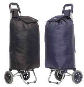 Hoppa Lightweight Shopping Trolley (Black or Blue) - £8.99 with code + Free Click & Collect @ Ryman
