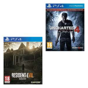 [PS4] Resident Evil 7 (Pre-Owned) - £5.84 / Uncharted 4: A Thief's End - £5.57 with code delivered @ Music Magpie
