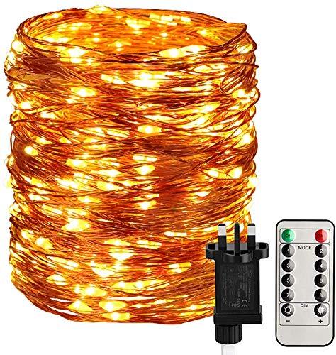 STARKER Fairy Lights Plug in, 300 LED 32M/104Ft Main Powered Garden String Lights £8.49 Prime / £12.98 Non Prime Sold by STRING LIGHTS FBA