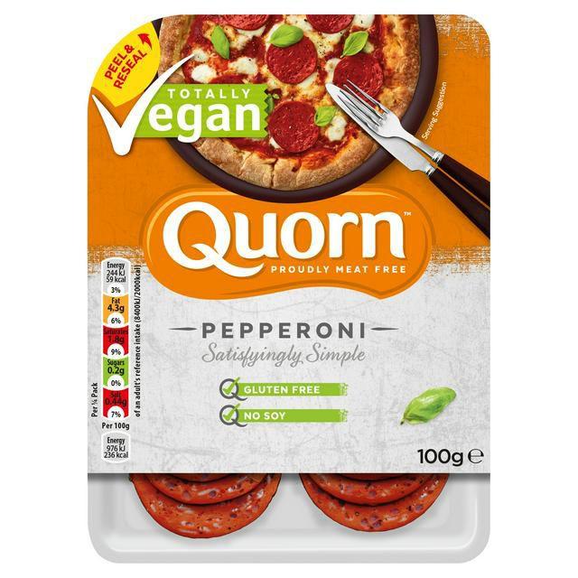 Quorn Vegan Pepperoni 100g £1.50 @ Sainsbury's