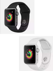 APPLE Watch Series 3 - Space Grey & Black Sports Band / Silver / White 38mm - £179.40 With Code @ Currys / Ebay