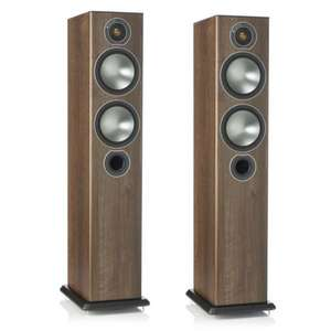 Monitor Audio Bronze 5 Floorstanders Speakers Walnut (other colours available) £299 @ Exceptional Audio Visual