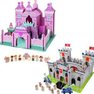 Chad Valley Magical or Knights Wooden Castle - £25 Each Using Click & Collect @ Argos