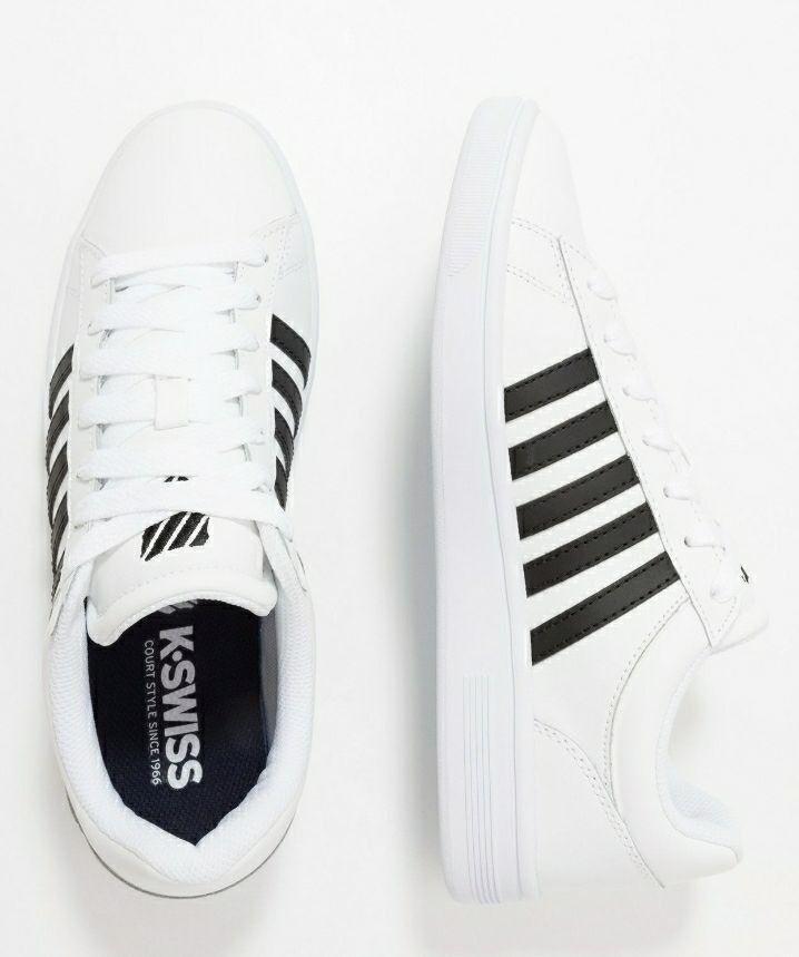 K Swiss Court Winston White Trainers (Sizes 6-12 Inc ½ sizes) £22.50 at Zalando
