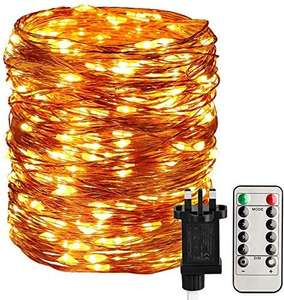 STARKER Fairy Lights Plug in, 300 LED 32M/104Ft Main Powered Garden String Lights £11.89 Prime / £16.38 NP Sold by STRING LIGHTS and FBA