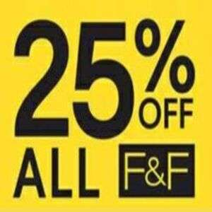 25% Off F&F (Clubcard Offer) @ Tesco