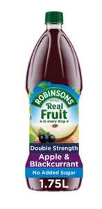 Robinson's Double Concentrate 1.75L (NAS) Orange & Pineapple/Apple & Blackcurrant/Summer Fruits is £1.50 @ Iceland