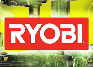 Spend £89.99 or more on a Ryobi starter kit and get a free tool @ Ryobi
