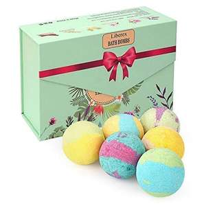 Liberex Bath Bomb Kit Organic Natural Essential Oils, Relax and Moisturize Dry skin £7.19 prime / £11.68 nonPrime at Amazon