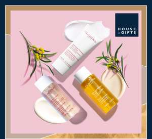Buy 2 or more Clarins products at House of Fraser and you will receive a free gift and 20% off with code