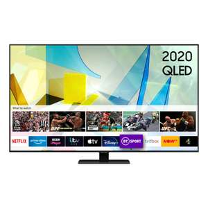 "Samsung QE55Q80T 55"" QLED £100 gift card 5 year warranty - £899 from Hughes"