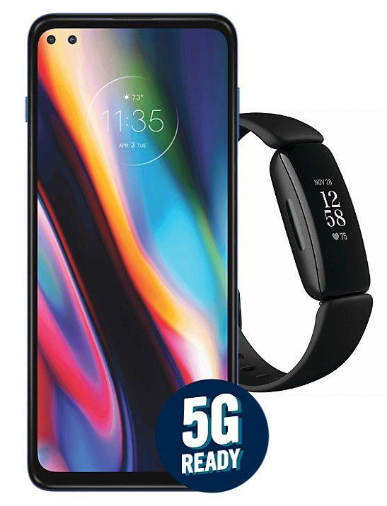 Motorola Moto G 5G Plus 64GB + Fitbit Inspire 2 + 12 Months Fitbit Premium - £269.99 @ Carphone Warehouse