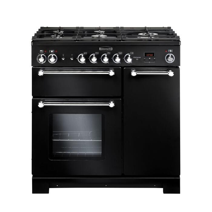 Rangemaster Kitchener Dual Fuel Range Cooker - KCH90DFFBL/C - Black Only £899.10 Delivered Using Code @ Currys
