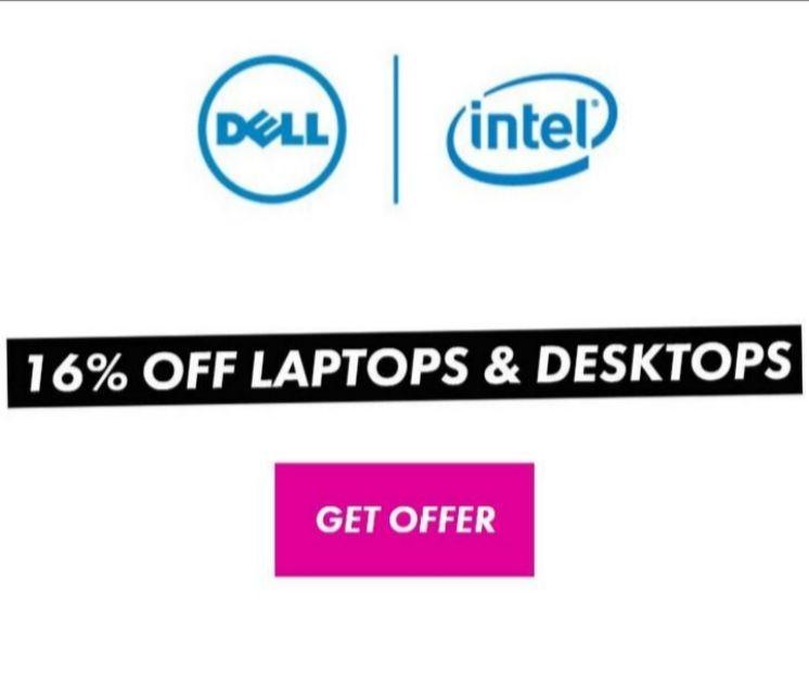 16% of all Laptops and Desktops @ Dell via TOTUM