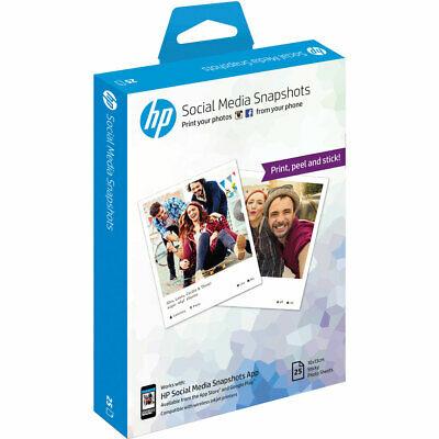 HP Social Media Snapshots Removable Sticky Photo Paper-25 sheets/10 x 13 cm, £2 at AO on eBay
