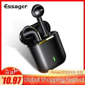 Essager J18 TWS Wireless Bluetooth 5.0 earphones in various colours for £9.05 delivered using coupon @ AliExpress / Essager Official Store
