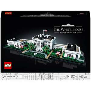 Extra 11% discount on selected LEGO with code e.g. LEGO Architecture: The White House (21054) £67.63 delivered at Zavvi