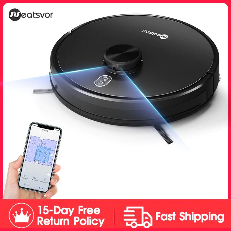NEATSVOR X600 4000pa Laser Navigation Robot Vacuum Cleaner ,APP Virtual wall £161.09 @ AliExpress NEATSVOR Official Store