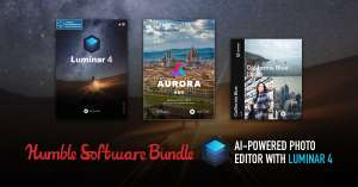 Humble Software Bundle: AI-Powered Photo Editor With Luminar 4, Aurora HDR and more - £19.32 @ Humble Bundle