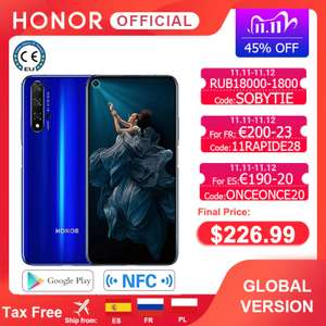 Honor 20 Global 6GB 128GB Kirin 980 6.26'' 48MP (with Google Services) £196.72 via Honor Mobile Official Store / AliExpress